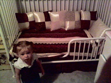 Ahnna's new Made by Mom with Love bedding!!